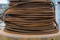 Старый ржавый кабель Стоковая Фотография RF