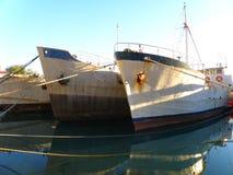старый ржавый корабль Стоковое Изображение