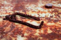 Старый ржавый кусок металла стоковое изображение