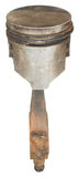 Старый ржавый поршень при штанга изолированная на белой предпосылке Стоковое Изображение RF