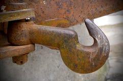 Старый ржавый промышленный крюк стоковое фото