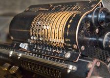 Старый ржавый ретро калькулятор стоковая фотография rf