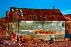 старый ржавый сарай Стоковые Фотографии RF