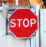 старый ржавый стоп знака Стоковые Фотографии RF