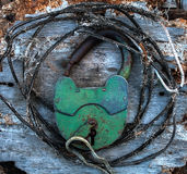Старый ржавый Padlock Стоковое Изображение RF