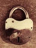 Старый ржавый Padlock стоковая фотография