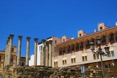 Старый римский висок Templo De Culto Имперск в Cordoba, Андалусии, Испании Стоковое Фото