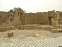 Старый римский дворец, Caesarea, Израиль Стоковое Изображение