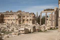 Старый римский город, Баальбек, Ливан Стоковые Изображения