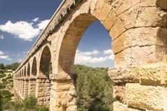 Старый римский мост-водовод в Испании, Европе Стоковая Фотография RF