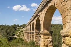 Старый римский мост-водовод в Испании, Европе Стоковые Изображения