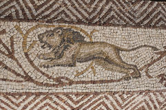 Старый римский дом - вилла Sileen в Libia Стоковые Фото