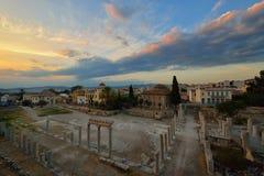 Старый римский рынок на Monastiraki стоковые фотографии rf