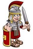 Старый римский солдат Стоковые Фото