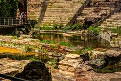 Старый римский театр в Катании Стоковое Фото