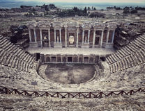 Старый римский театр в середине Hierapolis в Denizli, Tu Стоковое фото RF