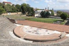 Старый римский театр Fourviere в Лионе Стоковое фото RF