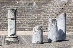 Старый римский театр Fourviere в Лионе Стоковое Изображение