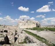 Старый римский холм цитадели столицы Аммана Джордана Стоковая Фотография