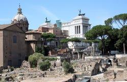 Старый Рим и современность Стоковое Изображение RF