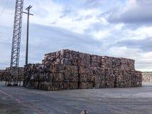 Старый рифлёный контейнер Стоковое Фото