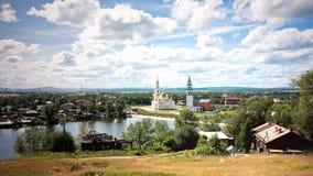 Старый русский городок Nevyansk стоковое фото rf