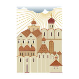 Старый русский город 2, Стоковые Фото