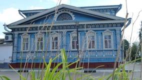 Старый русский дом Стоковое Изображение