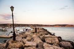 Старый рыбный порт в Греции Стоковое фото RF