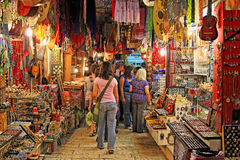 Старый рынок Иерусалима. Стоковое Изображение RF