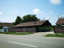 Старый рынок от восточно-европейской деревни стоковое изображение rf