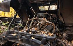 Старый рычаг переключения тяги управления тележки Стоковая Фотография