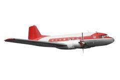 Старый самолет изолировал стоковые фото