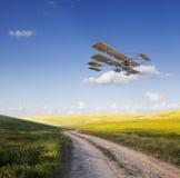 Старый самолет Стоковое Изображение
