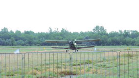 Старый самолет-биплан An-2 видеоматериал