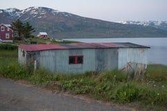 Старый сарай в Исландии Стоковая Фотография RF