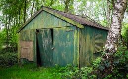 Старый сарай в древесинах Стоковое фото RF