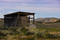 Старый сарай в тазе Sandwash в Колорадо Стоковое Изображение