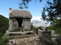 Старый саркофаг в Termessos Стоковая Фотография