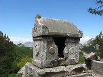 Старый саркофаг в Termessos Стоковые Изображения RF