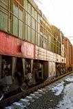 старый сбор винограда поезда Стоковое Изображение