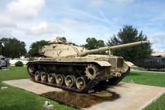 Старый, сверхмощный танк на дисплее Стоковое Изображение