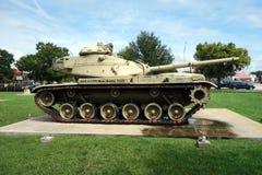 Старый, сверхмощный танк на дисплее Стоковая Фотография