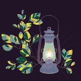 Старый светильник нефти с белой предпосылкой Стоковое Фото