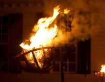 Старый светильник швырка в улице Стоковые Изображения RF