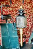 Старый свет на тележке Стоковая Фотография RF