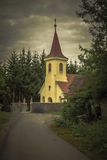 Старый святой монастырь глубоко в лесе Стоковое Изображение
