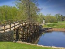 Старый северный мост, согласие, масса США Стоковая Фотография RF