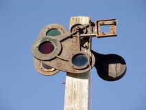 Старый семафор Стоковая Фотография RF