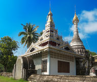 Старый серебряный висок в Таиланде Стоковое фото RF